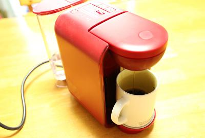 ドリップポッド コーヒー抽出中