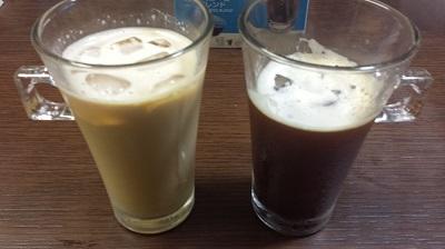 アイスコーヒー カフェオレ