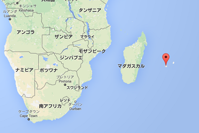 レユニオン島の位置