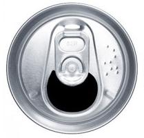 缶の開け口 非対称