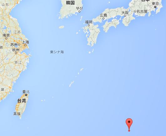 沖ノ鳥島の位置