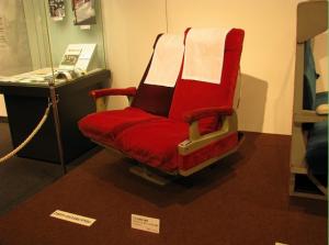 当時のリクライニングシート